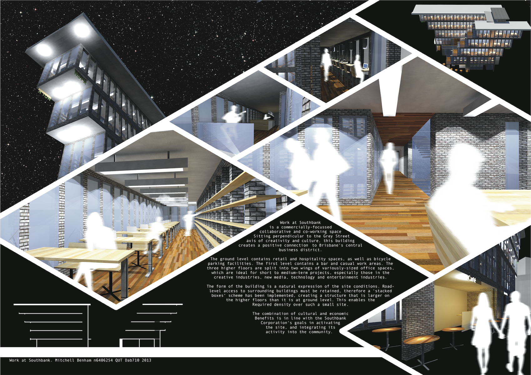 Poster design for architecture - Poster Number 2 From Work At Southbank Presentation